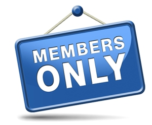 members only icon sign or sticker become a member and join here